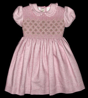 Hand Smocked Pink Dress - Beatrice