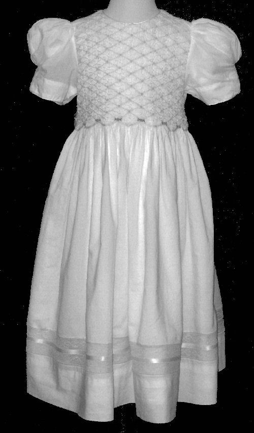 Hand Smocked Dress – First Communion– Darise