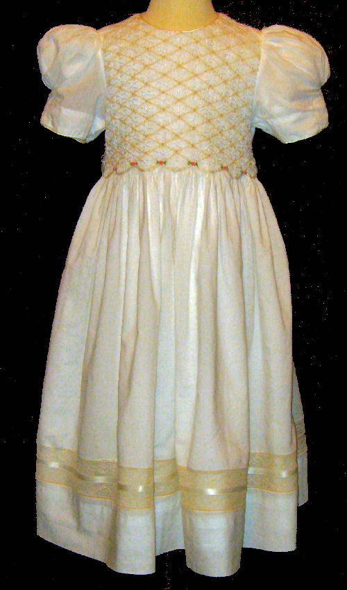 Hand Smocked Dress – First Communion– Donna