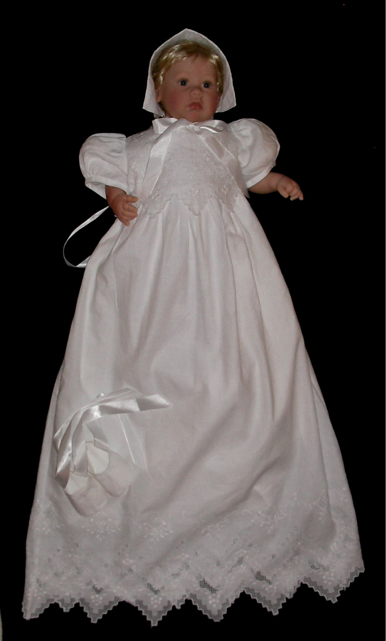 Hand Embroidered Christening Gown - Eloise