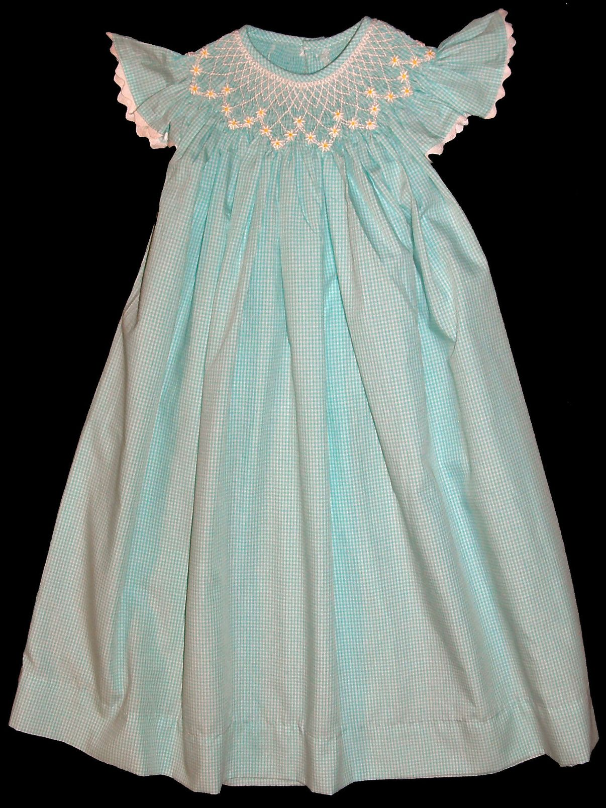 Bishop Hand smocked dress - Flutter_Sleeves