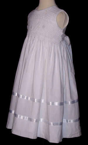Smocked Bodice Dress  - First Communion - Ines