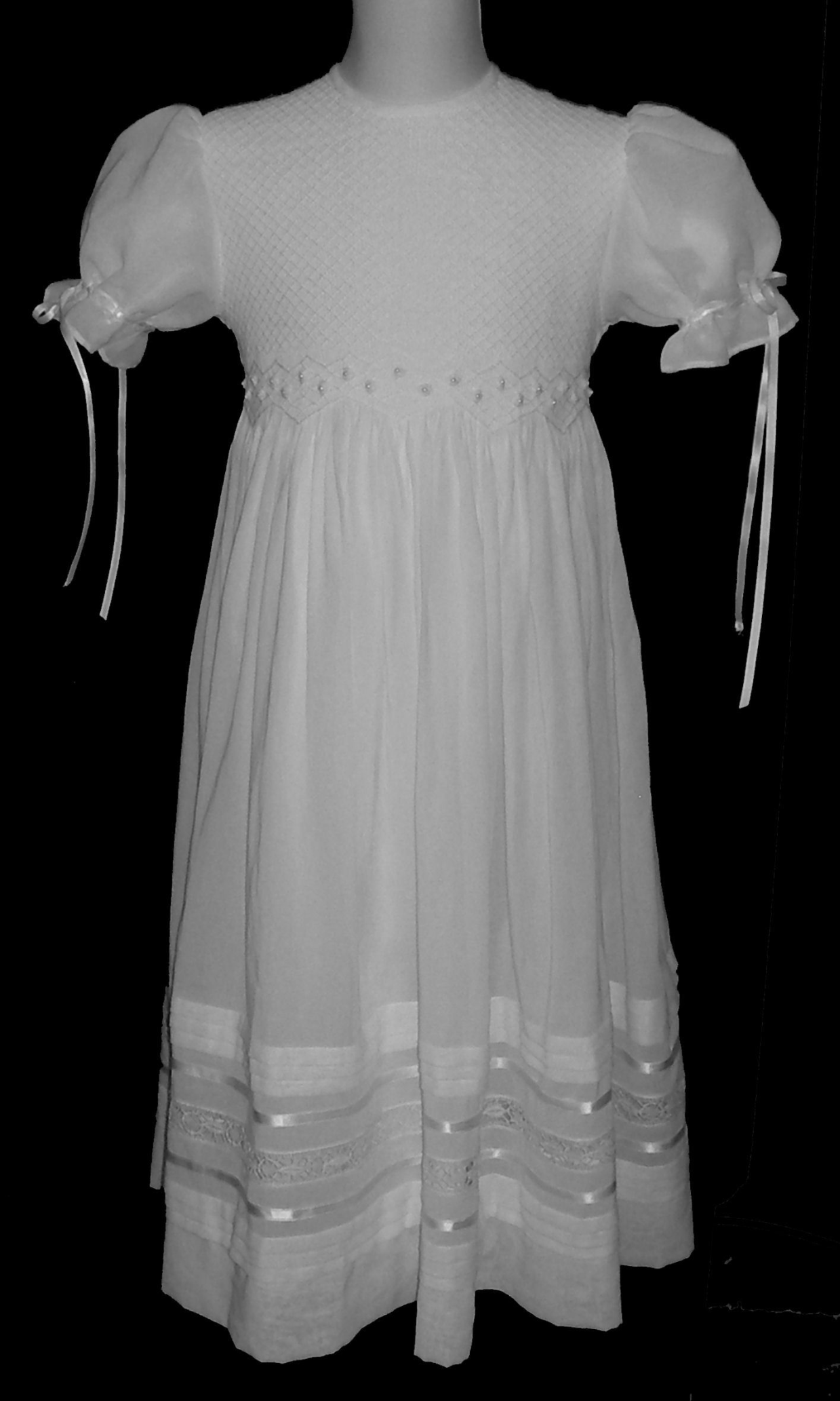 Hand Smocked Dress - Flower Girl Dress - Lucero