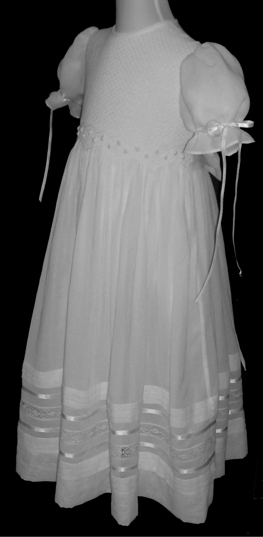 Hand Smocked Dress- First Communion - Lucero