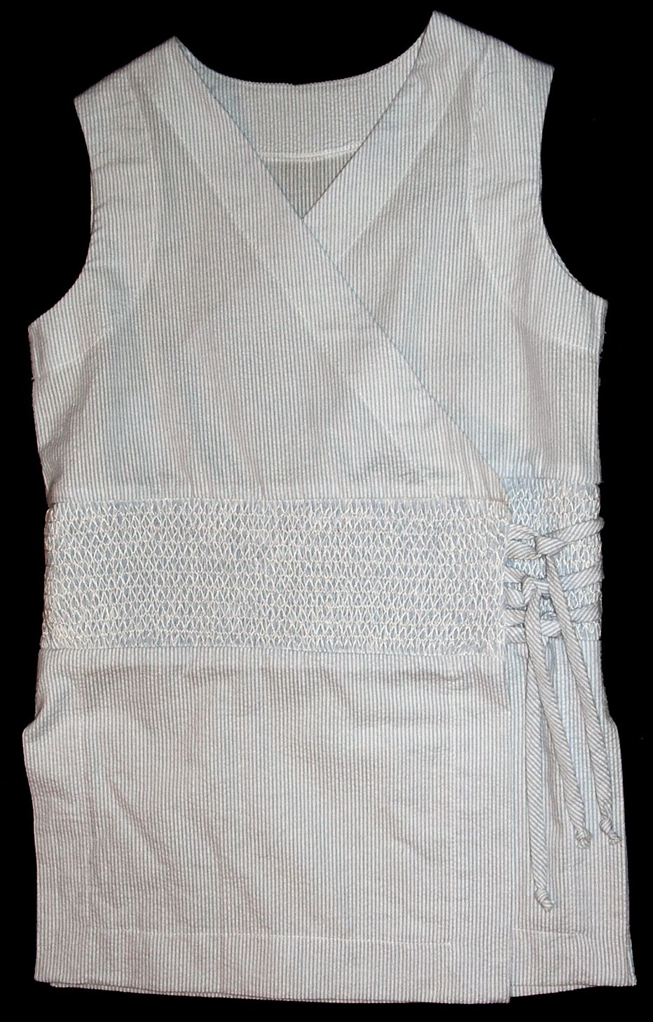 Suit with Hand Smocked Insert - Tessa