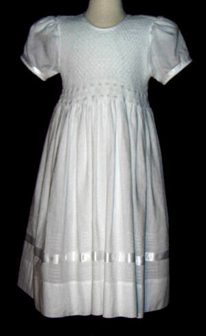 Hand Smocked Dress- First Communion  -Victoria