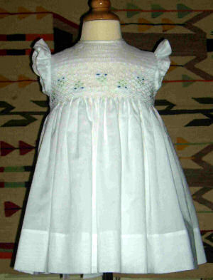 Smocked Dress - Flower Girl Dress  -Bonita