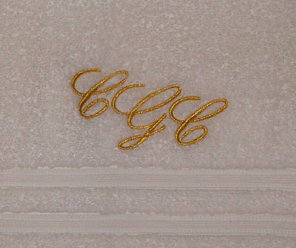 Design your own Monogram to be embroidered