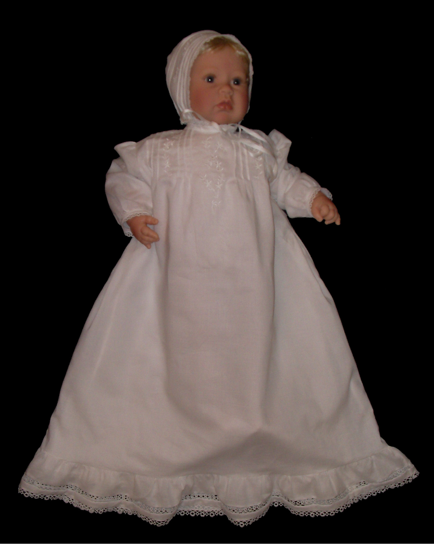 Embroidered Victorian Christening Gown - Joann