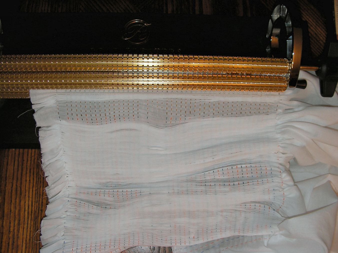 continue pleating