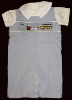 Back to School Shortalls - Romper - Shirt - Set