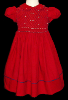 Hand Smocked Red Christmas Dress