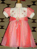Size 1 bodice and skirt pink variegated dress with gathered skirt.