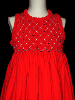 Hand Smocked Red Dress - Erika