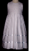 Smocked Bodice White Dress - Ines