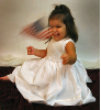 Beaded Hand Smocked White Dress - Joyce