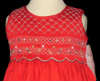 Hand Smocked Red Dress - Cindy - SOLD OUT