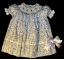 Bishop blue print Hand smocked dress - Ariana (SKU: S20111119)