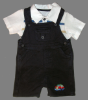 Machine Embroidered Car Boys Blue Shortall