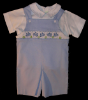 Crab Boys Blue Shortall - Romper - Shirt - Set