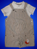 Machine Embroidered Eagle Boys Shortall - Romper - Playsuit - Overall - Dungaree