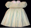 Dress With Hand Smocked Insert - 078