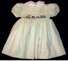 Dress with Freight Train Hand Smocked Insert