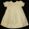 Bishop blue print Hand smocked dress - Doris