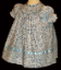 Bishop blue print Hand smocked dress - Sabrina (SKU: S20110419)