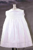 White Hand Smocked Bodice Dress  - Tirzah