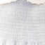 close up of smocking on bodice