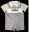 Boys Fishing Cat Shortalls - Romper - Shirt - Set (SKU: BR20110918)