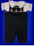 Boys Snowman Blue Shortalls - Romper - Shirt - Set (SKU: BR200909213)