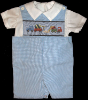 Concrete Mix Operation Boys Shortall - Romper - Shirt - Set