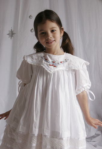 Hand Embroidered Dress – - Flower Girl - Daniele