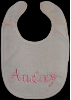 Machine Embroidered _ Baby's Bib _ Audrey