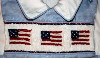 US Flag Boys Blue Shortall