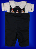 Boys Snowman Blue Shortalls - Romper - Shirt - Set