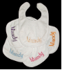 Machine Embroidered _ Baby's Bib _ Mandy